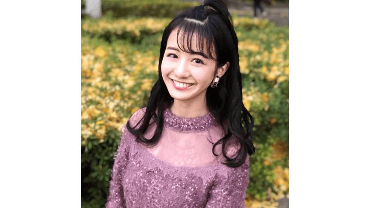 慶應で撮影された中川梨花