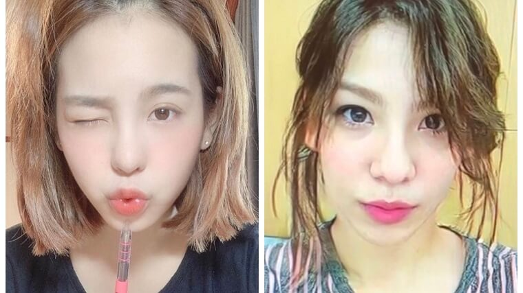 NiziUマコと女性化したラウールの顔画像比較