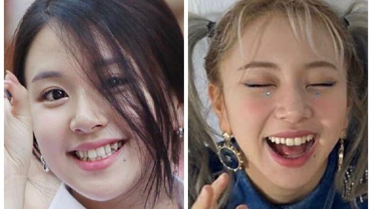 TWICEチェヨンの歯並びの比較画像