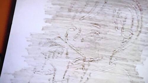 教場Ⅱで堂本が描いた忍野の絵