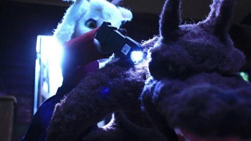 マイリトルゴートのお母さんヤギが夏希の父親を退治するシーン