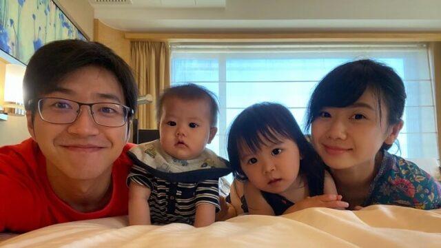 福原愛夫婦と2人の子供