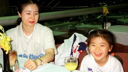 福原愛さんの母親の若かりし頃の写真